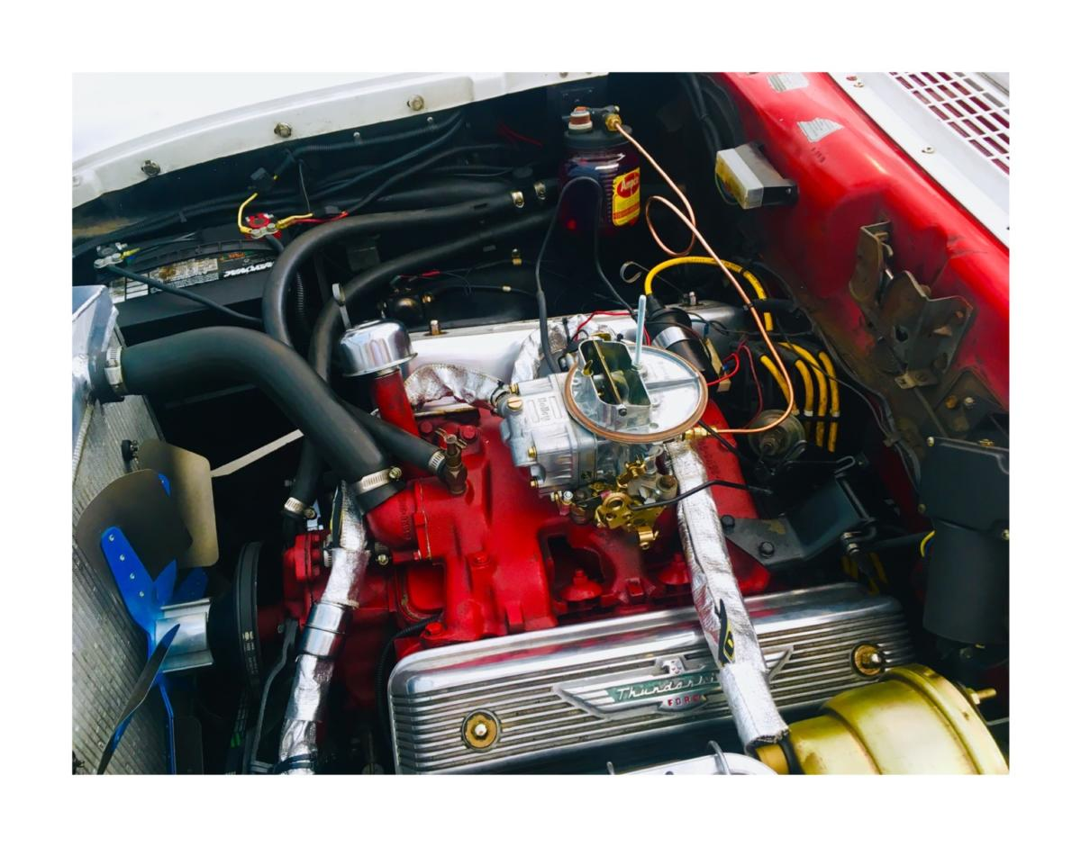 """Installation on a '57 Ranchero. Customer noticed a big improvement on """"hot starts"""" with the use of the oiler."""