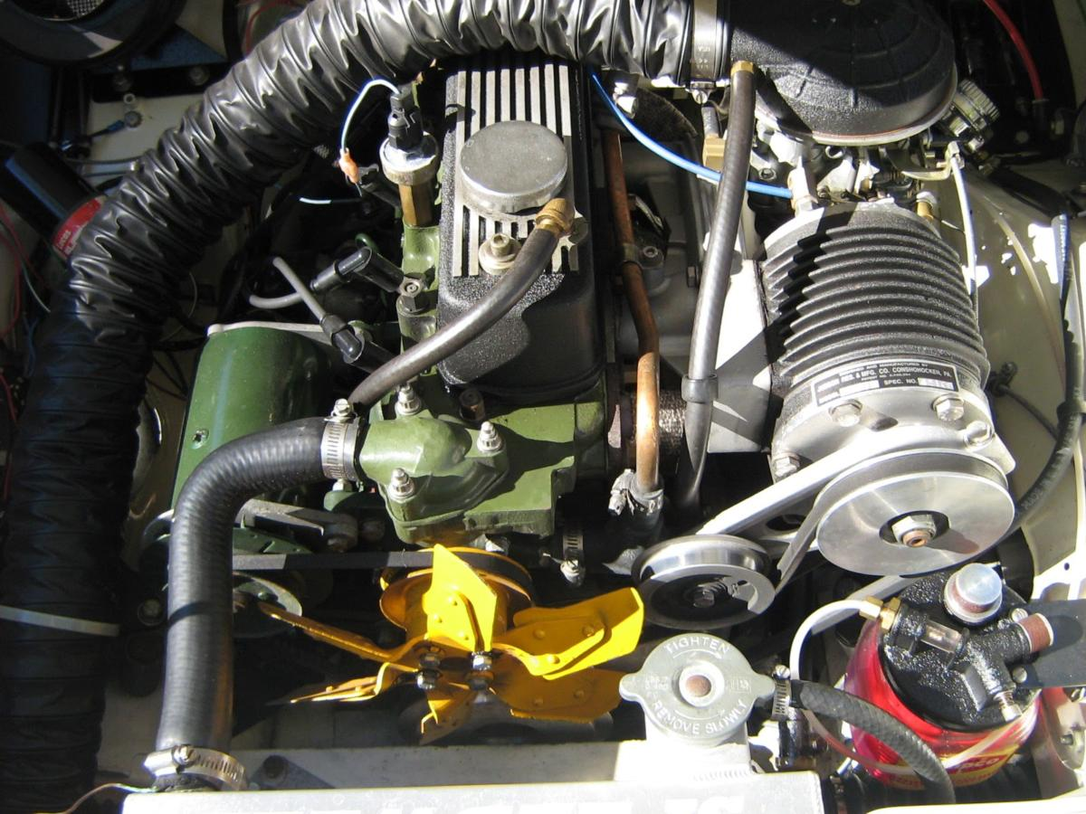 Installation w/ Judson supercharger on Austin Healey Sprite
